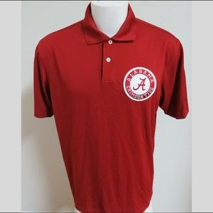 Sz L Red Adidas ClimaCOOL MENS Poly #87Z Golf